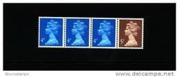 GREAT BRITAIN -  COIL STRIP 4+4+4+5p.   MINT NH - 1952-.... (Elisabetta II)