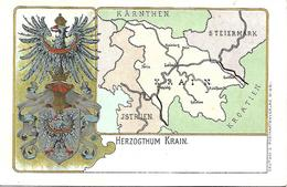 1900/10 -KRAIN  Slowenien , Wappen Karte, Gute Zustand, 2 Scan - Slowenien