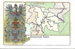 1900/10 -KRAIN  Slowenien , Wappen Karte, Gute Zustand, 2 Scan - Slovénie