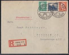 DR R-Brief Mif Minr.411,461,466 Leipzig 15.4.32 - Deutschland