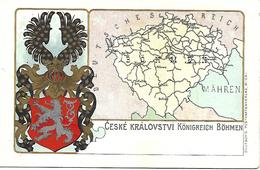 1900/10 -CESKE KRALOVSTVI , Wappen Karte, Gute Zustand, 2 Scan - Czech Republic
