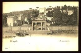 NAPOLI - Camposanto (plan Animé) - Carte Illustrée Précurseur (vers 1898-1900) - Napoli (Naples)