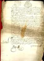 """1729 - Généralité De PARIS - Cachet  """"""""2.S - LA F."""""""" + Cachet """"""""Actes Des Notaires De Paris""""""""  Sur Document 4 Pages - Cachets Généralité"""