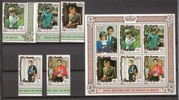 Penrhyn 1981 Royal Wedding Diana And Charles, Mi 222-226 + Bloc 31 MNH(**) - Penrhyn