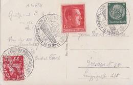 DR AK Bernburg Mif Minr.516,661,664 SST Bernburg 16.6.38  800 Jahrfeier - Briefe U. Dokumente