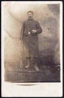 1914 CARTE PHOTO SOLDAT FRANCAIS ( Rég. Nr. 47 Au Col ) - SIGNE PAR LE SOLDAT  + TEXTE - Guerre 1914-18