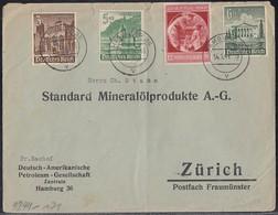 DR Brief Mif Minr.744,751,753,754 Hamburg 14.1.41 Gl. In Schweiz Zensur - Deutschland