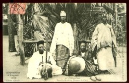 ANGERS (49) - Exposition 1906 - 10 : Village Noir - Famille Mauding, Joueurs De Cora -Ed. Officielle - (gros Plan Animé) - Angers