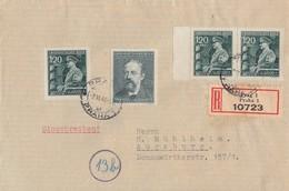 Böhmen & Mähren R-Brief Mif Minr.3x 137,138 Prag 2.6.44 Gel. Nach Augsburg - Böhmen Und Mähren
