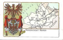 1900/10 - MAHREN, Wappen Karte, Gute Zustand, 2 Scan - Czech Republic