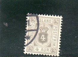 ISLANDE 1876-1901 O DENT 12.5 - Gebraucht