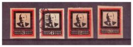 URSS782) 1924 -Morte Di Lenin- Serie Cpl 4 Val MLH* E USED  Terza Tiratura - 1923-1991 URSS