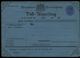 S6894 - Braunschweig GS Postanweisung A4 III : Ungebraucht. - Braunschweig