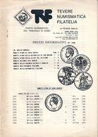 """PREZZI INFORMATIVI DI NUMISMATICA N. 1290 """"TEVERE - NATALE 1990 - CATALOGO DI VENDITA AREA ITALIANA"""" USATO / USED - Libri & Software"""