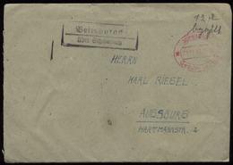 S6709 - Französische Zone Gebühr Bezahlt + Landpoststempel Auf Briefumschlag: Gebraucht Veitsaurach über Schwabach - A - Französische Zone