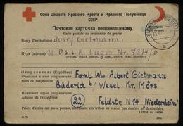 S6707 - Bi. Zone Kriegsgefangenen Lagerpost Rotes Kreuz Postkarte 1948: Gebraucht Büderich Wesel - Russland Lager 7314 - Zone Anglo-Américaine