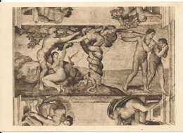 Vatican Postcard Sent To Switzerland 2-4-1947 (Michelangelo) - Vatican