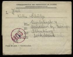S5758 - SBZ Belgien Gefangenen Brief Mit Zensur: Gebraucht Lager LB VII - Meuselwitz 2.1947, Bedarfserhaltung Mit Inha - Zone Soviétique
