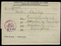 S5754 - SBZ Belgien Gefangenen Brief Mit Zensur: Gebraucht Lager LB VII - Meuselwitz 1947, Bedarfserhaltung Mit Inhalt - Zone Soviétique