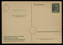 S5563 SBZ Sächsische Schwärzung OPD Chemnitz, Wurzen ,auf 5 Pfg Hitler GS Postkarte: Ungebraucht Signiert Richter. - Zone Soviétique