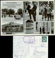 P0347 - DR Propaganda Postkarte 6 Ansichten, Deutsch - Französische Grenze Mit Hakenkreuzfahne: Gebraucht Saarbrücken - Allemagne