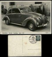 P0344 - DR Propaganda Auto Postkarte , Adler: Gebraucht Mit Automobil Ausstellung Sonderstempel Berlin 1937 - Allemagne