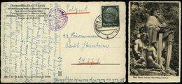 P0276 - DR Waffen SS Postkarte Richard Wagner Denkmal: Gebraucht Lohmen - SS Totenkopf Standarte 6 ,1940 , Bedarfserha - Briefe U. Dokumente