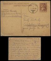 WW II DR Polen Beute GS Postkarte : Gebraucht Lublin Feldpost über Sammelstelle Dresden - Chemnitz 1939 , Bedarfserhal - Deutschland