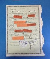 1939 REGNO D'ITALIA PRESTITO REDIMIBILE CINQUE PER CENTO NONA SERIE MATRICE - Azioni & Titoli