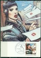 CM-Carte Maximum Card # France-1988 # BD # Communication # Bande Déssinée #  Enki Bilal #Angouleme - 1980-89