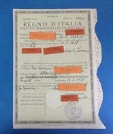 1937 REGNO D'ITALIA PRESTITO REDIMIBILE CINQUE PER CENTO QUINTA SERIE MATRICE - Azioni & Titoli