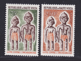 HAUTE-VOLTA N°  383 & 384 ** MNH Neufs Sans Charnière, TB (D8126) Lutte Contre L'onchocercose - 1976 - Haute-Volta (1958-1984)