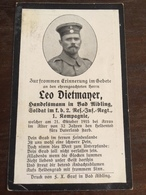 Sterbebild Wk1 Ww1 Bidprentje Avis Décès Deathcard RIR2 ARRAS 21. Oktober 1915 Aus Bad Aibling - 1914-18