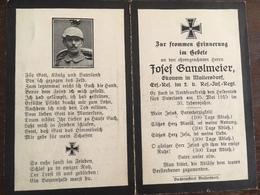 Sterbebild Wk1 Ww1 Bidprentje Avis Décès Deathcard RIR2 15. Mai 1915 Aus Müllersdorf - 1914-18