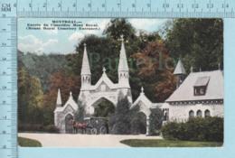 Montreal Quebec - CPA  Corbillard Tiré Par Des Cheveaux Devant L'entrée Du Cimetière Mont Royal, Postcard Carte Postale - Montreal