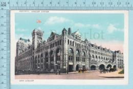Montreal Quebec - CPA, Gare Windsor, Par Weiss Import, Caleche Et Auto, Postcard Carte Postale - Montreal