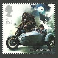 GB 2018 HARRY POTTER MOTORBIKE MOTORCYCLE WIZARDS SINGLE STAMP MNH - 1952-.... (Elizabeth II)