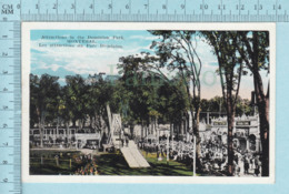 Montreal Quebec - CPA, Animé , Attractions Du Parc Dominion, Iceland Ponies, Panama Canal, Postcard Carte Postale - Montreal