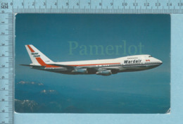 Avion, Aviation - Wardair Canada ( 1975) Ltd, Boing 747, Voyagé En 1988 + Timbre,  Postcard Carte Postale - 1946-....: Ere Moderne