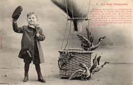 LE VRAI DIRIGEABLE 1-  Enfant Canards Ballon . éditeur Bergeret état Voir Scan - Bergeret