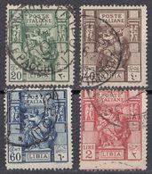 LIBIA (COLONIA ITALIANA) - Serie Completa Di 4 Valori Usati: Yvert 40/43, Come Da Immagine. - Libia