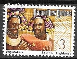 1974 3t Wig Makers, Used - Papoea-Nieuw-Guinea