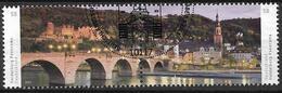 2013 Deutschland Allem. Fed.  Mi. 3028-9 FD-used  Stadtansicht Von Heidelberg Mit Alter Brücke über Den Neckar, Schloss - Usados