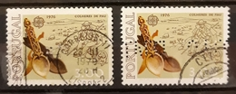 PERFORADO - PERFIN. PORTUGAL 1976 EUROPA Stamps - Handicrafts  USADO - USED. - Perfins