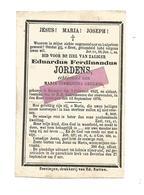 D 522. EDUARDUS JORDENS  Echtg. C. Geukens - °BEVERLOO 1845 En Aldaar + 1976 - Images Religieuses