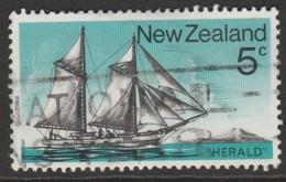New Zealand 1975 Historic Sailing Ships 5 C Multicoloured SW 668 O Used - Nouvelle-Zélande