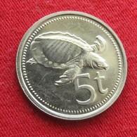 Papua New Guinea 5 Toea 1982 KM# 3   Papuasia Nova Guine Nuova Guinea Papouasie Nouvelle Guinee - Papouasie-Nouvelle-Guinée