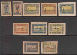 Azerbaijan 1920 Mi#1-10 Y Grey-yellow Paper, Mint Hinged Complete Set - Azerbaïjan