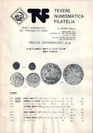 """PREZZI INFORMATIVI DI NUMISMATICA N. 390 """"TEVERE - CATALOGO DI VENDITA AREA ITALIA / ESTERO"""" USATO / USED - Libri & Software"""