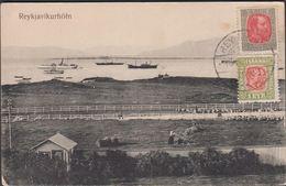1907. Brjefspjald (reykjavikurhöfn). 1 EYR + 4 AUR Christian IX. REYKJAVIK.  () - JF305773 - 1873-1918 Dipendenza Danese